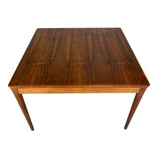 Mid-Century Danish Modern Square Rosewood Coffee Table by Uldum Møbelfabrik For Sale