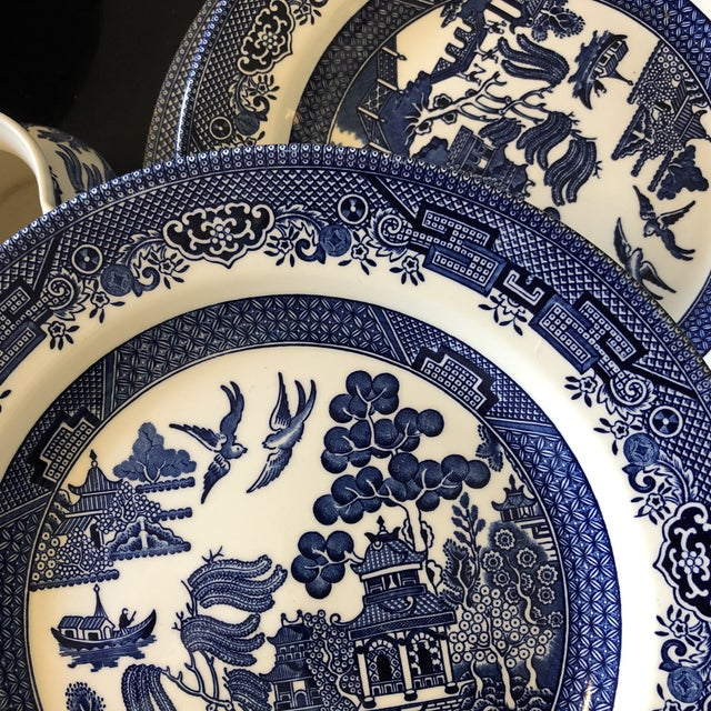 1980s Vintage Blue Willow Churchill England Serveware Collection - 36 Pieces For Sale - Image 11 of 12