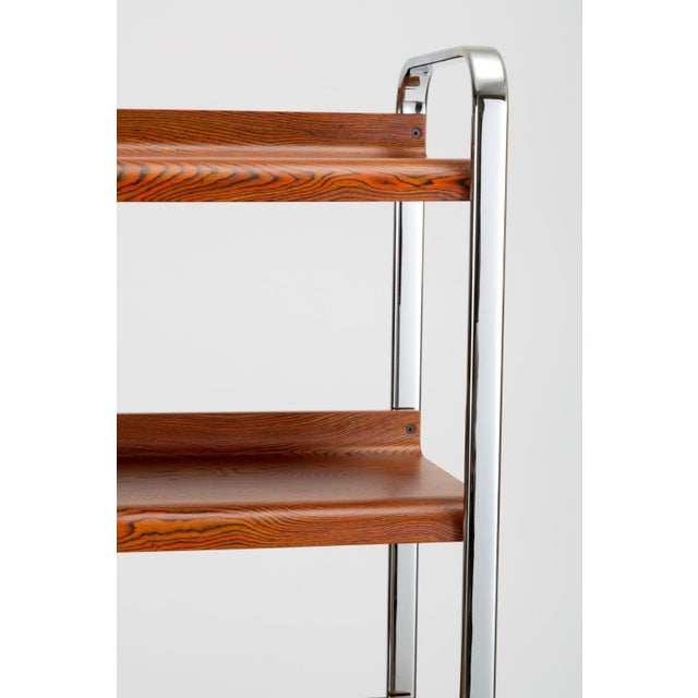 Black Zebrawood and Chrome Bookshelf by Peter Protzmann for Herman Miller For Sale - Image 8 of 13