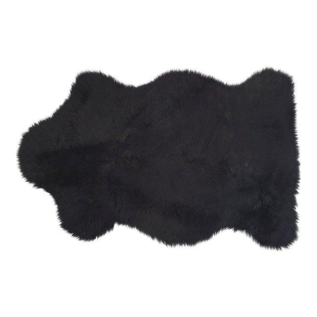Black Sheepskin Rug - Image 1 of 4