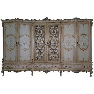 20th Century Italian Venetian Baroque Style and Painted Bedroom Set For Sale