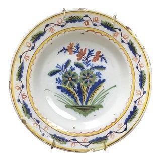 Colorful Dutch Delft Plate #1 For Sale