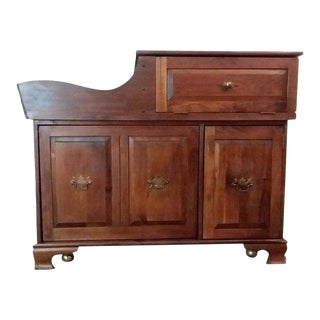 1980's Country Dry Sink Wash Table Dry Bar Server For Sale