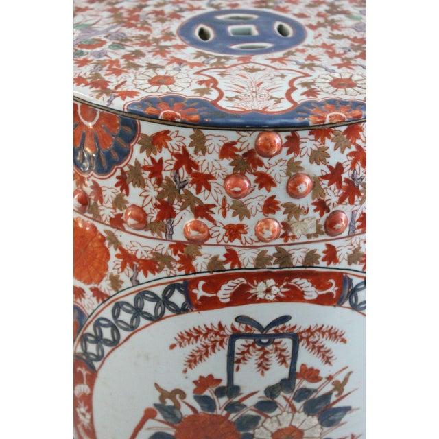 Chinoiserie Porcelain Garden Stool - Image 2 of 2