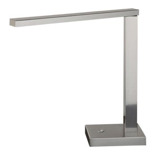 Brushed Nickel Swivel Arm Desk Light For Sale