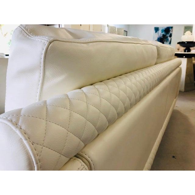 Wood 21st Century C&b Italia Gurian White Leather Italian Sofa For Sale - Image 7 of 13