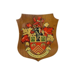 1957 Gloucestershire Coat of Arms Military Honorary Plaque For Sale