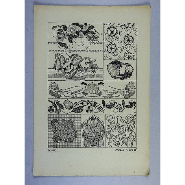 Contemporary Circa 1920 Textile Design Lithograph For Sale - Image 3 of 3