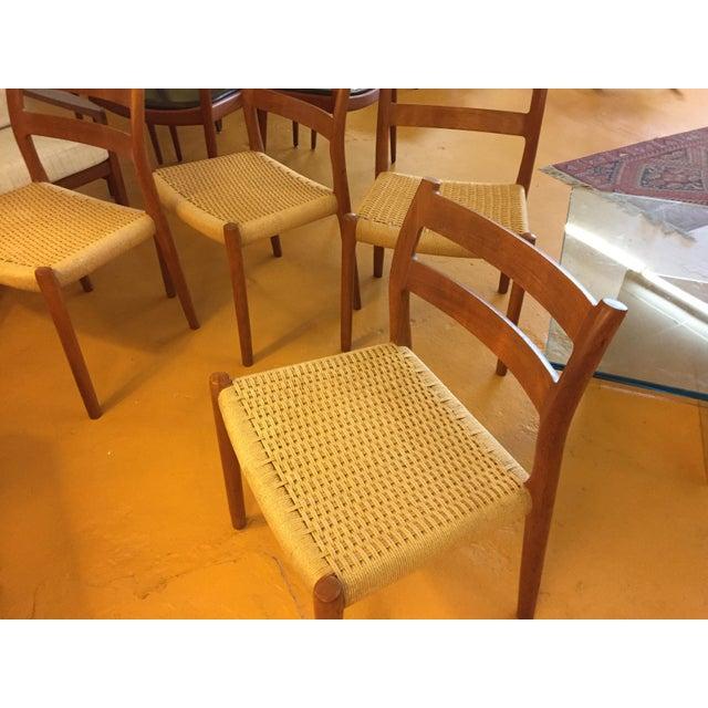 Niels Otto Møller for j.l. Møller Teak Dining Chairs, Model 84 - Set of 4 For Sale - Image 12 of 13