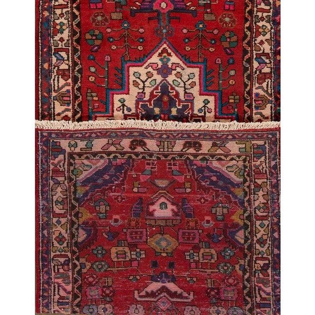 "Apadana - Vintage Persian Hamadan, 3' x 10'4"" - Image 4 of 5"