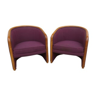 1970s Shelby Williams Bucket Chairs - a Pair For Sale