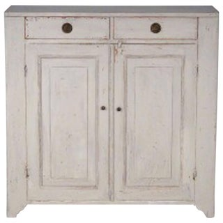 19th Century Painted Swedish Gustavian Sideboard For Sale