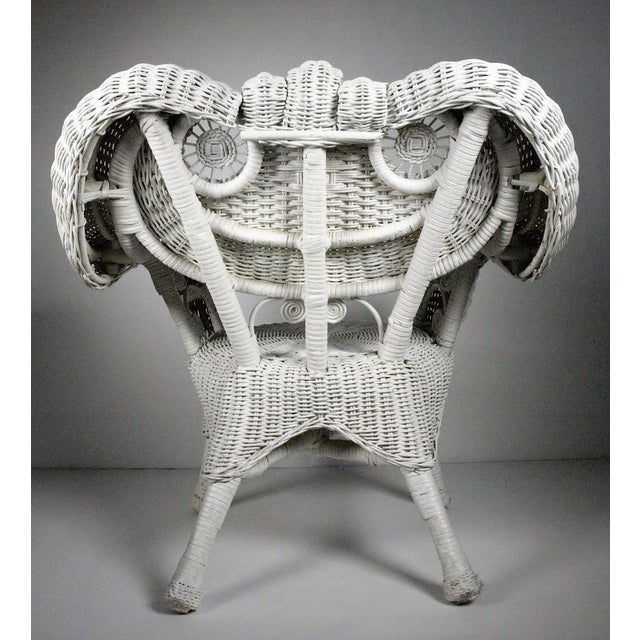 Vintage Child's Wicker Chair - Image 4 of 4