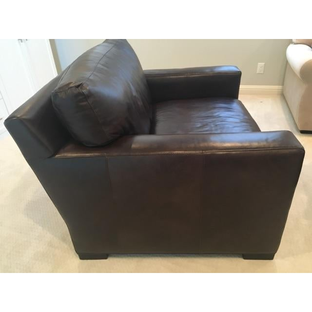 Crate & Barrel Axis II Leather Chair - Image 8 of 8