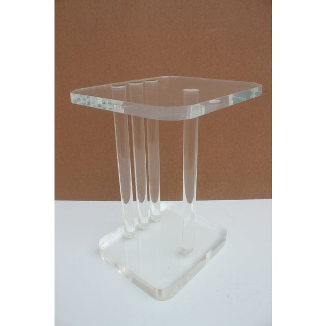 Mid-Century Modern Lucite Side Table - Image 5 of 11
