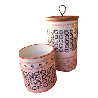 Vintage Inspired Canister Set - a Pair For Sale