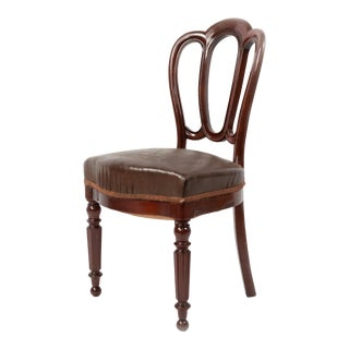 French Empire Mahogany Dining Chair For Sale