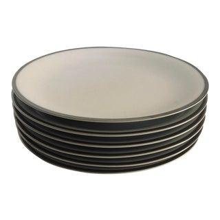 Vintage Noritake White & Platinum Trim Silverdale Pattern Set of 6 Bread Plates For Sale