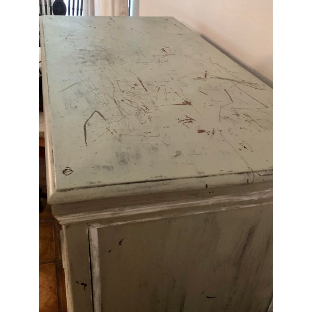 Light Gray Sideboard With Double Doors For Sale In Houston - Image 6 of 11