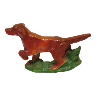 1940s Vintage Cast Iron Irish Setter Bottle Opener For Sale