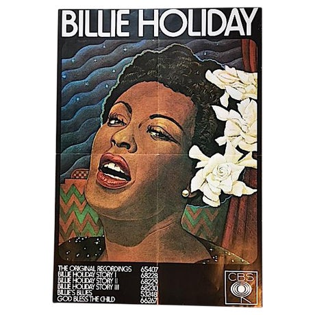 Vintage Billy Holiday Poster - Image 1 of 4