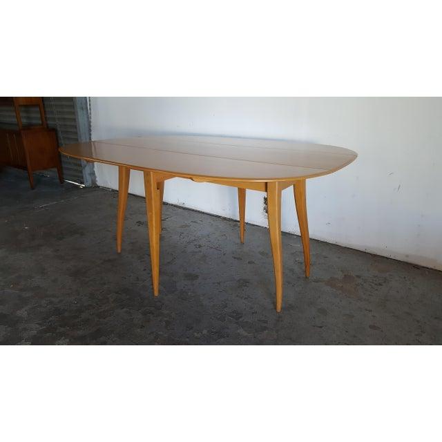 Mid-Century Heywood Wakefield Dining Table - Image 5 of 11