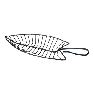1950s Fish Shape Modern Iron Basket by Fred Press for Rubel For Sale
