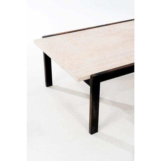 Metal Van Keppel-Green Travertine Coffee Table For Sale - Image 7 of 8