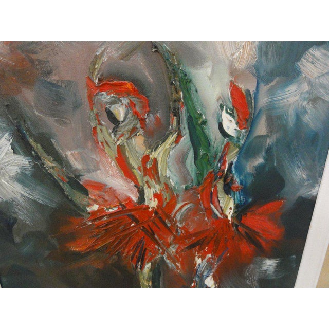 Mid Century Ballerina Abstract Painting - Image 9 of 10