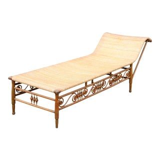 Heywood Wakefield Attributed Recamier Chaise For Sale