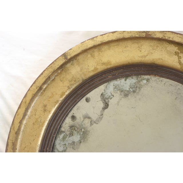 Suzanne Bonham Round Gilded Antiqued Mirror - Image 5 of 6