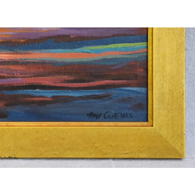 Late 20th Century Ray Cuevas, Plein Air River Landscape Oil Painting For Sale - Image 5 of 8