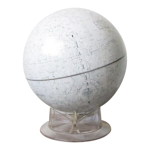 Vintage Replogle Mid-Century Lunar Moon Globe For Sale