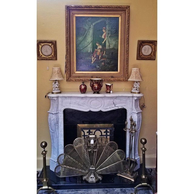 20c Irish White Marble Fireplace - Complete For Sale - Image 10 of 11
