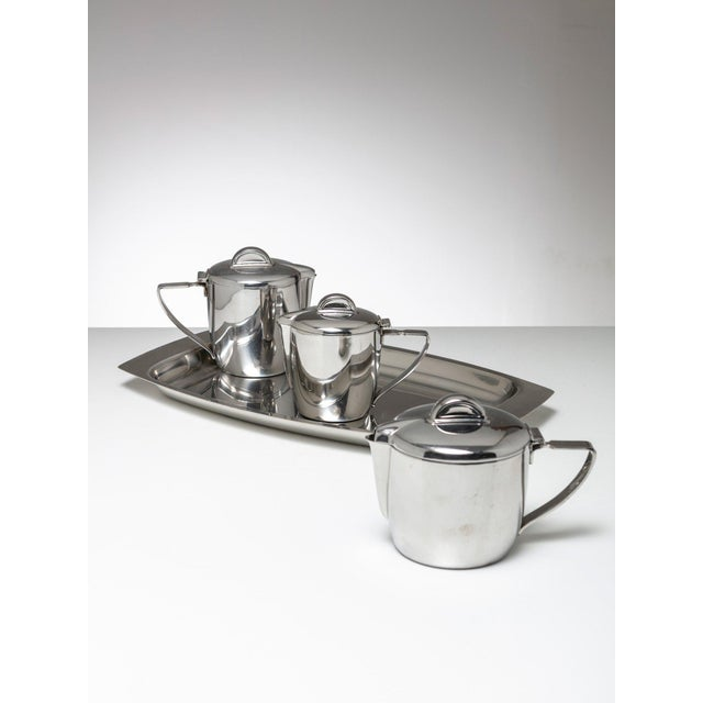 1950s Steel Set by Gio Ponti for Calderoni For Sale - Image 5 of 5