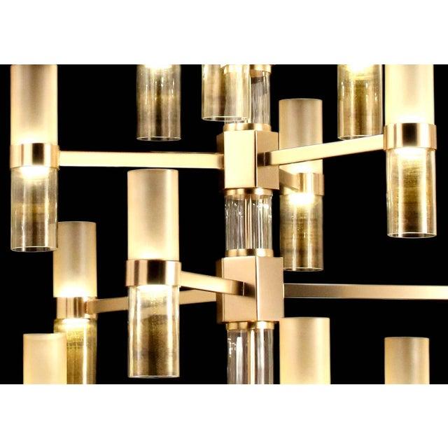 Italian Multistrato Chandelier by Fabio Ltd For Sale - Image 3 of 5