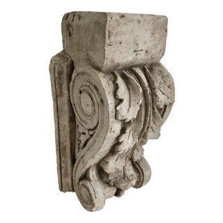 Antique French Cast Plaster Corbel For Sale