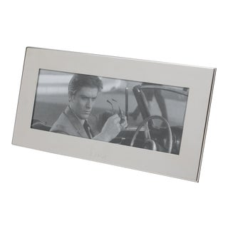 Christian Dior Paris Silver Plate Long Picture Frame For Sale