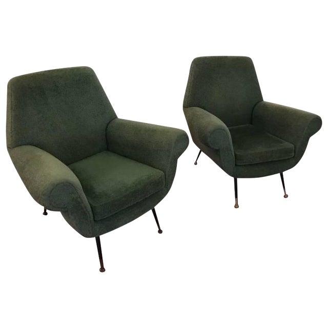 Italian Mid-Century Modern Club Chairs - A Pair For Sale