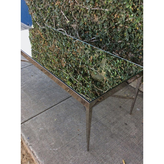 Barbara Barry Barbara Barry Mirrored Chrome Coffee Table For Sale - Image 4 of 10