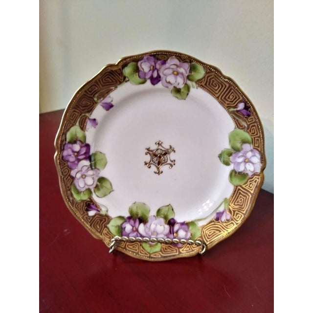 19th Century French Limoges Art Deco Plate For Sale - Image 10 of 10