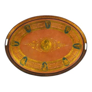 French Painted Tole Tray For Sale