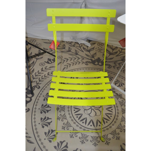 Modern Fermob Bright Yellow Bistro Chair For Sale - Image 3 of 9