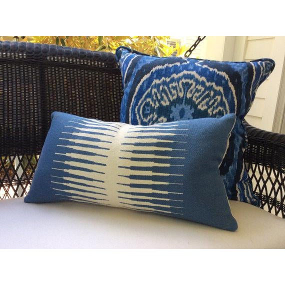 Duralee Masala Denim Pillow Covers - a Pair For Sale - Image 4 of 4
