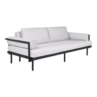 Avenua Sofa with Bolsters in Natural Canvas For Sale