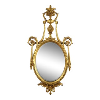 Neoclassical-Style Giltwood Mirror For Sale