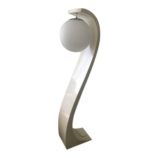 Mid-Century Modern Cobra White Lacquer Floor Lamp Modeline Baughman Era