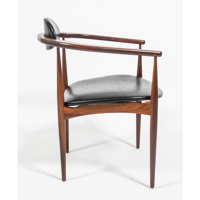 Mid-Century Modern Adrian Pearsall Craft Associates Mid Century Black Leather 950 Chairs - a Pair For Sale - Image 3 of 13