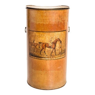 Late 19th Century Vintage Tole Bin For Sale