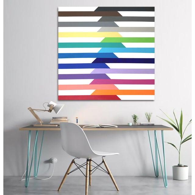 'Spectra' Original Op Art Painting by Linnea Heide For Sale - Image 4 of 8